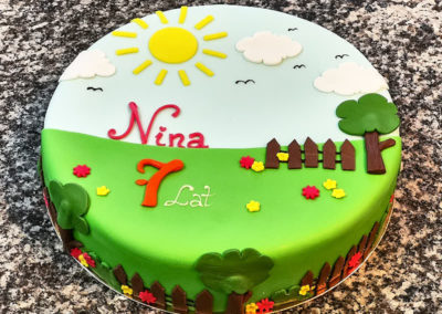 Tort urodzinowy dla dziewczynki  na specjalne zamówienie - cukiernia Słodki Wentzl Kraków