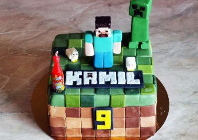 Tort d;a dziecka na specjalne zamówienie Minecraft - cukiernia Słodki Wentzl Kraków