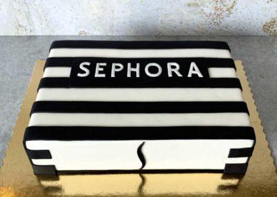 Sephora tort na specjalne zamówienie dla eleganckiej kobiety - cukiernia Słodki Wentzl Kraków