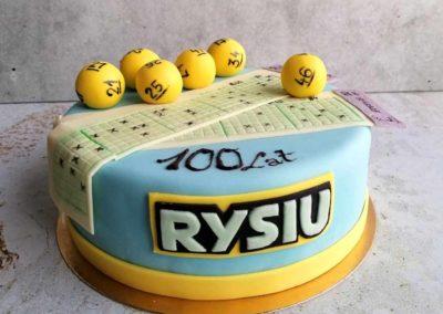 Tort urodzinowy Lotto na specjalne zamówienie - cukiernia Słodki Wentzl Kraków